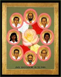 Martyrs of The Jesuit University | Icon Image | by Robert Lentz